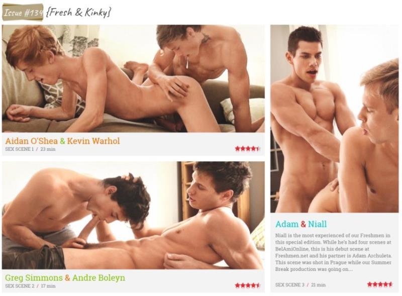 FreshMen.net - Aidan OShea, Kevin Warhol, Greg Simmons, Andre Boleyn, Adam Archuleta, Niall Morris - Issue #134 (810p/HD)