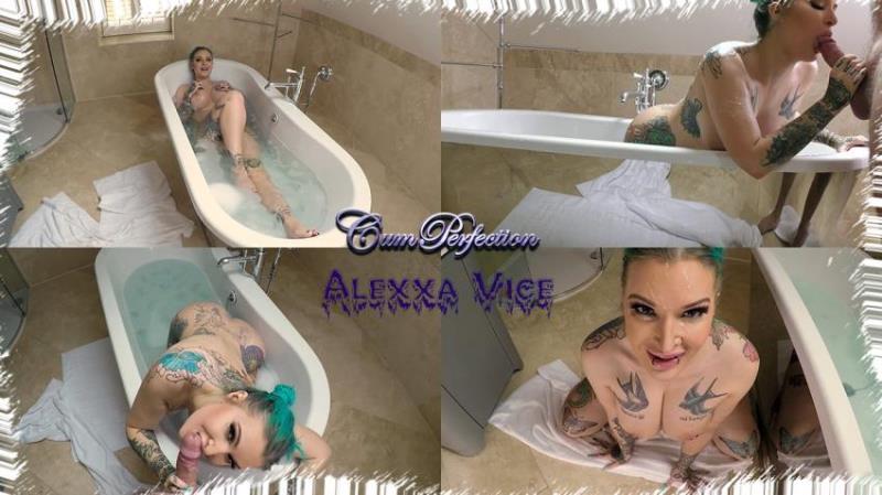 CumPerfection.com - Alexxa Vice - Bathtime Facial (1080p/FullHD)