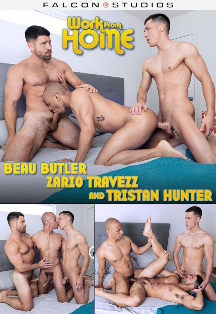 Tristan Hunter, Beau Butler, Zario Travezz ~ Work From Home ~ FalconStudios.com ~ FullHD 1080p