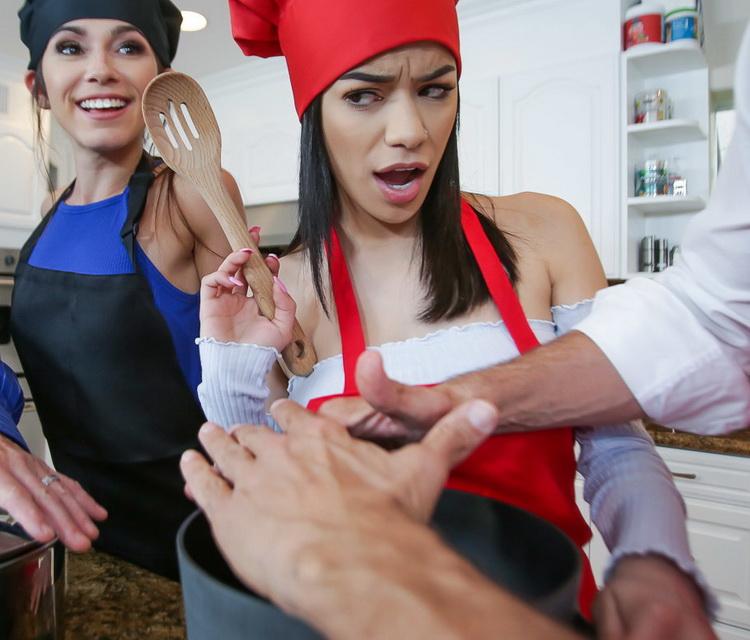 Gianna Gem, Savannah Sixx ~ Culinary Cock Cuties ~ TeamSkeet/DaughterSwap ~ HD 720p