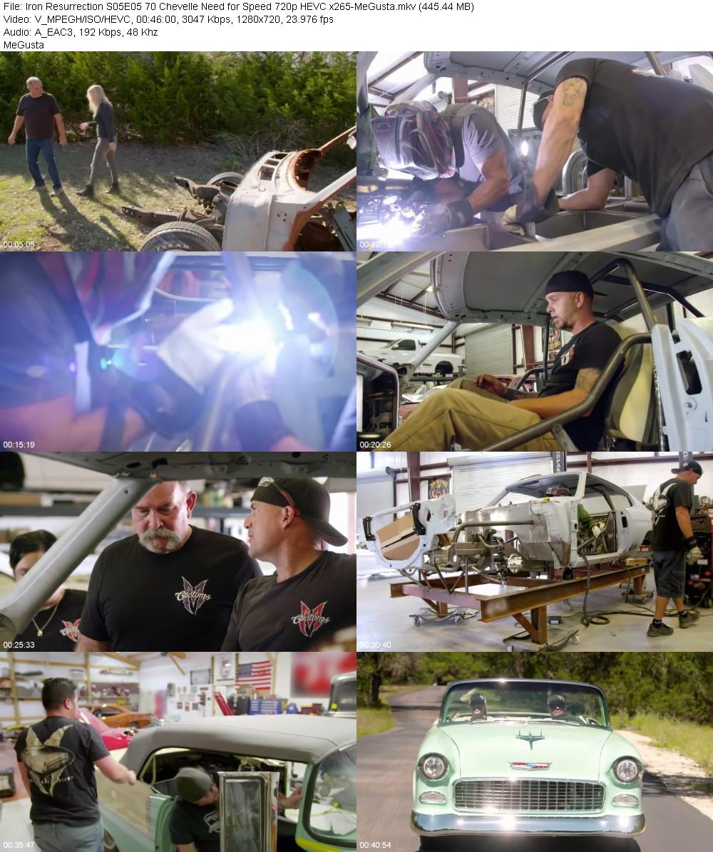 Iron Resurrection S05E05 70 Chevelle Need for Speed 720p HEVC x265-MeGusta