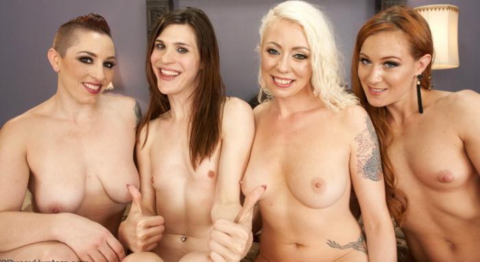 Lorelei Lee, Mistress Kara, Cheyenne Jewel, Stefani Special - TS Stephanie Special Caught in a a Love Triangle and Gang Banged (HD 720p) - TSPussyHunters/Kink - [2021]