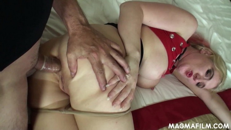 Unknown - Blonde harlot gets arse fucked and slurps cum [FullHD/1080p/467 MB] MagmaFilm
