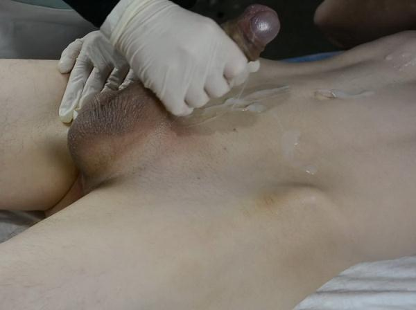 lisafem: lisafem - SKINNY Boy with Huge Cock CUMS twice on his Esthetician. Wax with Handjob (FullHD) - 2021