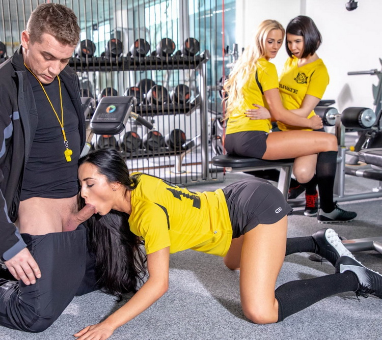 Lady Dee, Anna Rose and Katy Sky fuck the trainer - Lady Dee, Anna Rose and Katy Sky fuck the trainer [Private / FullHD 1080p]